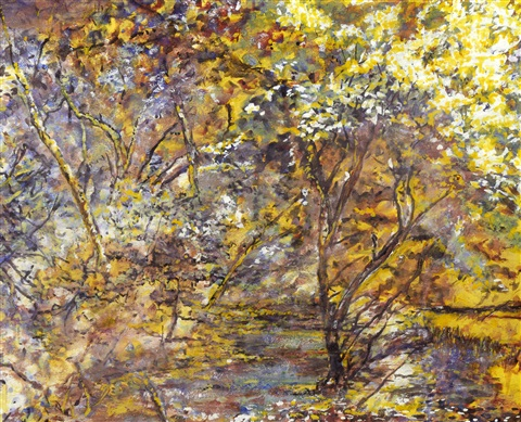 stream in a woodland glade by sir jacob epstein