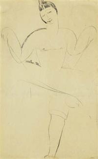 nijinsky (study) by amedeo modigliani