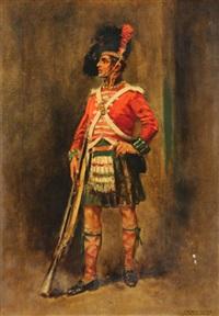 portrait of a royal highlander by edward percy moran