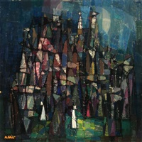 untitled (cubist abstract) by augustin albalat