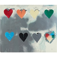 eight hearts by jim dine