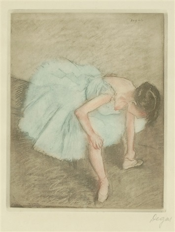 danseuse assise seated dancer by edgar degas