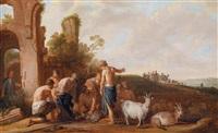 joseph wird von seinen brüdern verkauft by claes cornelisz moeyaert