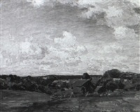 quiet pastures: landscape with cattle grazing by walter griffin