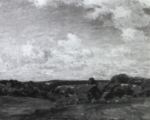 quiet pastures landscape with cattle grazing by walter griffin