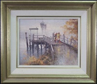 fishing on the wharf by ramon ward thompson