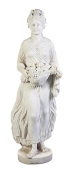an italian marble figure depicting a lady carrying fruit in the skirt of her dress by anonymous-italian (19)
