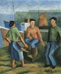 escena en el puerto by juan de arostegui
