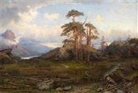 motiv ved holvigseteren, nordfjord by jacob julius holck