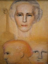 portret van marie-josé van belgië en de violist en componist eugène ysayë by emile fabry
