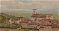 giornata piovigginosa (chiesa di s. francesco ad assisi) by alberto cecconi