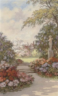 a quiet corner of the garden by p. reid