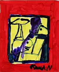 red / yellow composition by knud nielsen