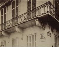 balcon quai de bethune 24 by eugène atget