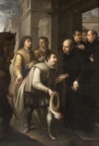 san francisco de borja recibido por s. ignacio by juan simon gutierrez
