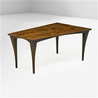 fine trapezoidal dining table by wharton h. esherick
