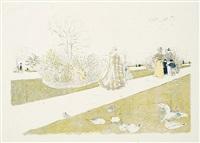 le jardin des tuileries by edouard vuillard