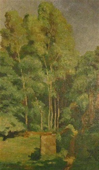 grove of trees by eugene louis corneau