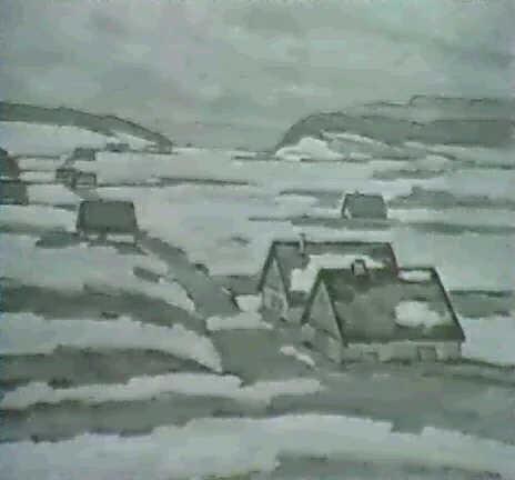 vallee de la brevine bauernhauser in verschneiter ebene by hermann sandoz