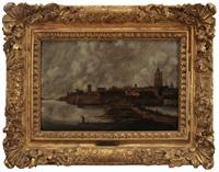 view of amsterdam by jan meerhout