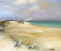 plage des saintes marie de la mer by marcel dyf