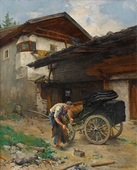 ein wagenbauer bei der arbeit by hermann lindenschmit