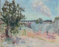 udsigt fra holmers hus, ampolla (view from holmer house, ampolla) by viggo rorup