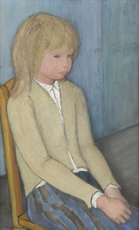 portrait d'une fille assise by paul smolders