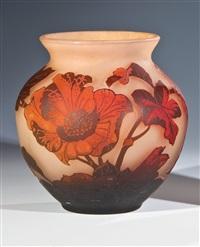 vase mit pfingstrose by arsall (vereinigte lausitzer glaswerke)