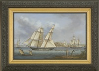 the us brig truxton outward bound from boston by louis dodd