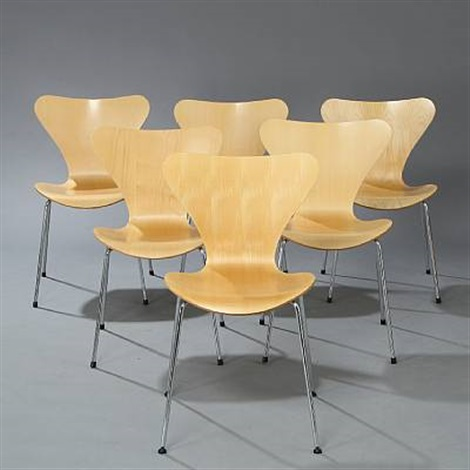 seven chair stacking chairs set of 6 by arne jacobsen