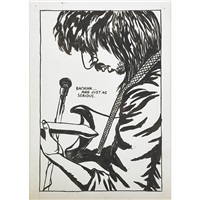 untitled (bachian...and just as serious) by raymond pettibon