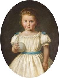 porträt eines jungen mädchens by johann adolf hoeffler