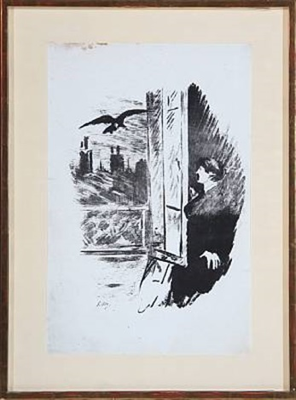le corbeau a la fenêtre by édouard manet