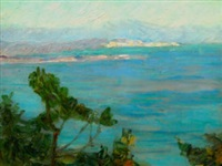 view along a mediterranean coast by konstantinos maleas