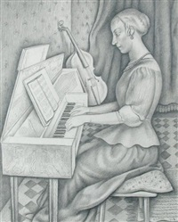 design for title page; harpsichord and virginal music by richard eurich