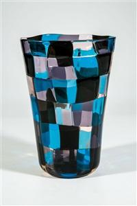 ''pezzato''- vase (farbvariante ''asia'') by fulvio bianconi
