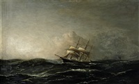 segelschiffe auf unruhiger see by fred pansing
