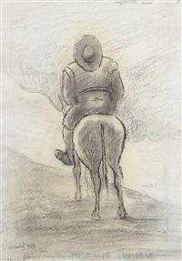 uomo a cavallo by carlo carrà