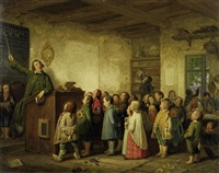 die dorfschule by johann peter hasenclever