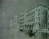 ansicht des canale grande mit gondoln und palastkulisse by enrico fossati