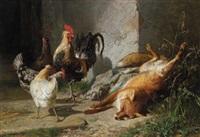 im hühnerhof by johann baptist hofner