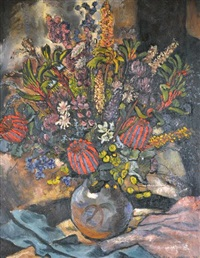 untitled (still life with banksias) by jean isherwood
