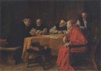 kardinal und mönche im gespräch by hans kratzer