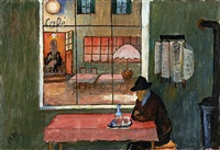 café in saint-prex by marianne werefkin