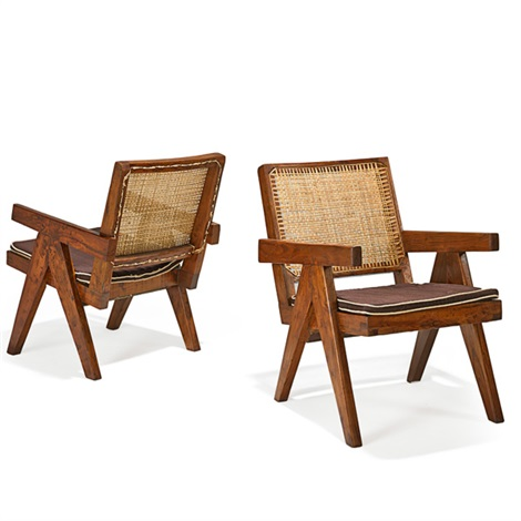 lounge chairs from the chandigarh administrative buildings 2 works by pierre jeanneret
