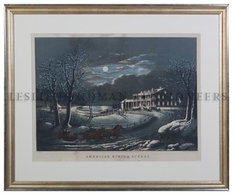 american winter scenes evening after ff palmer by nathaniel currier