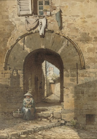 the norman arch old town hyères by edward henry fahey