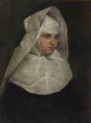 nonne by wilhelm trübner