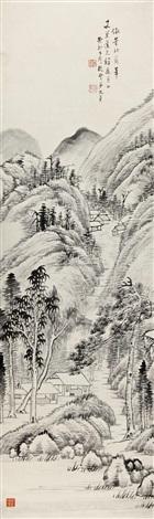 仿董北苑山水图 landscape by xiang wenyan